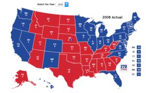 2008 election map - APUSH Themes: Party Politics-magoosh