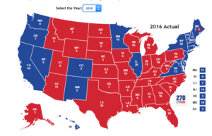 2016 election map - APUSH Themes: Party Politics-magoosh