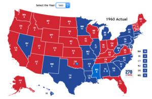1960 election map - APUSH Themes: Party Politics-magoosh