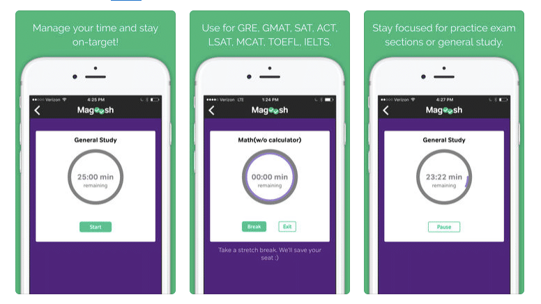 SAT preparation online free study timer - magoosh