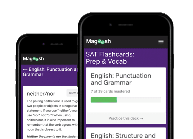 SAT preparation online free flashcards - magoosh
