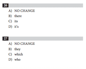 Example answer choices - sat grammar rules - magoosh