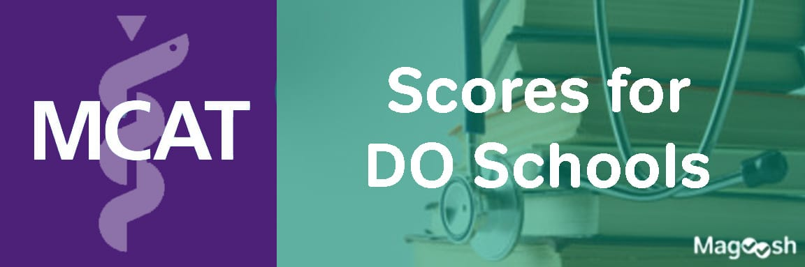 MCAT Scores for DO Schools -magoosh