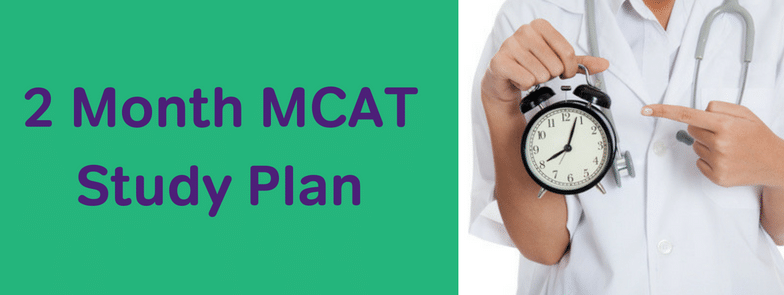 2 month mcat study plan