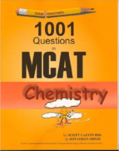 Magoosh MCAT prep books - 1001 questions in MCAT chemistry