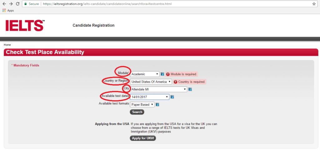 USA IELTS Exam fee