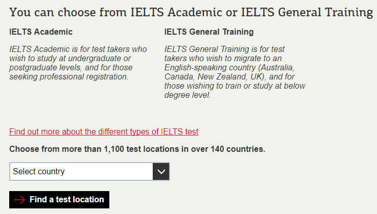 IELTS registration: finding your fee, step 2a ---Magoosh
