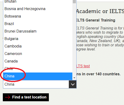 IELTS registration: finding your fee, step 2b ---Magoosh
