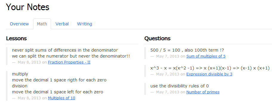 Magoosh GRE - Notes on Math
