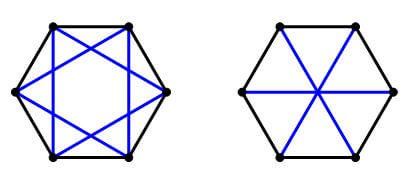 regular hexagon with stars
