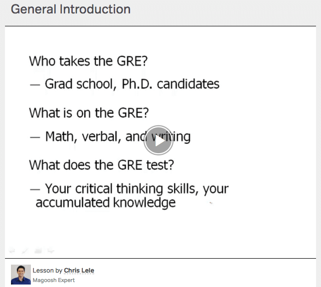magoosh intro to the gre lesson video