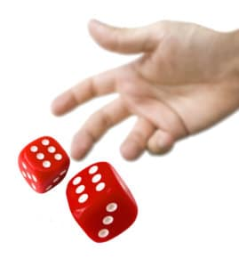 permutation and combination, dice - magoosh