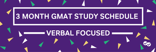 GMAT STUDY GUIDE SCHEDULE