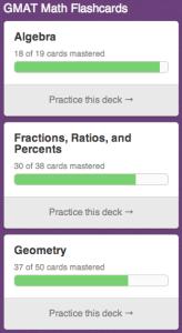 Free GMAT Math Flashcards