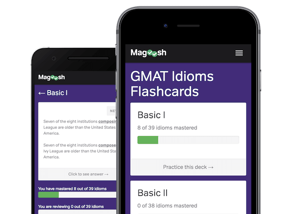 Magoosh GMAT idioms flashcards-best GMAT books and resources-magoosh