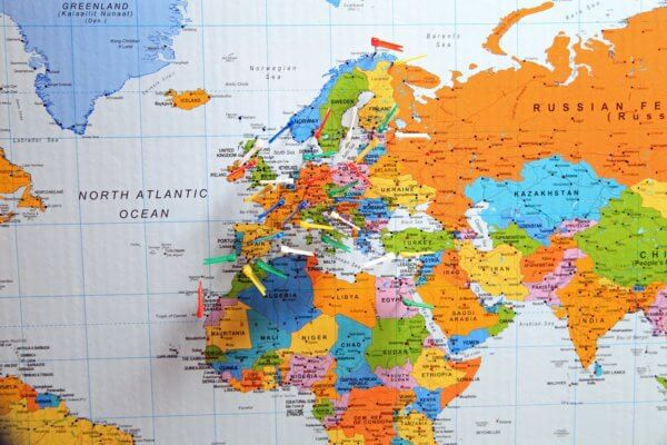 GMAT UK-Map with pins on UK and Europe-magoosh