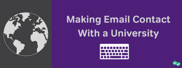 Making email contact with a university-magoosh