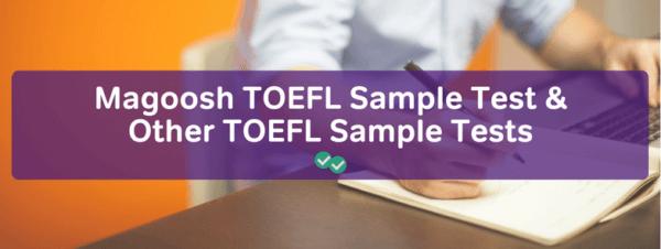 TOEFL sample tests