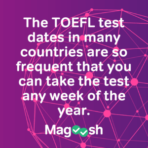 Toefl test dates in Perth
