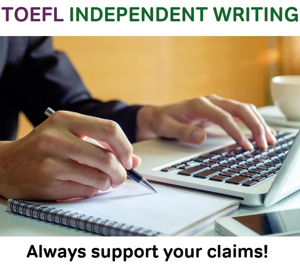 toefl writing template independent - toefl independent writing tips support your claims