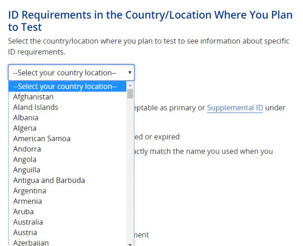 how to take the TOEFL in any county: finding your ID requirements