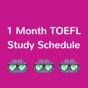 TOEFL study plan