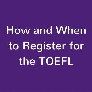 TOEFL registration