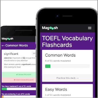 Magoosh TOEFL Vocabulary Flashcard Apps