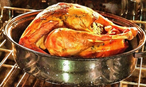 A roasted turkey