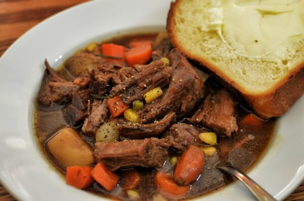 Beef stew (with some bread and butter on the side)