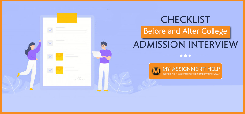 Checklist: Before and After College Admission Interview