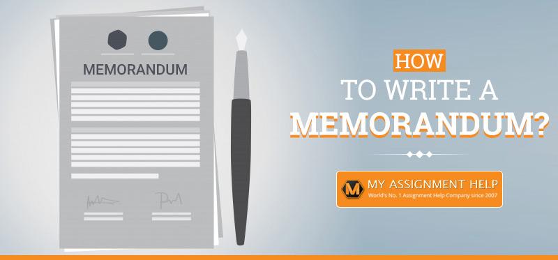 How to write a memorandum?