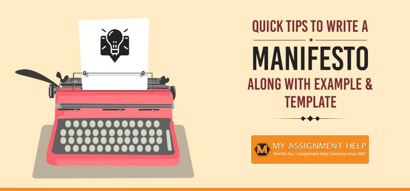 Tips To Write A Manifesto