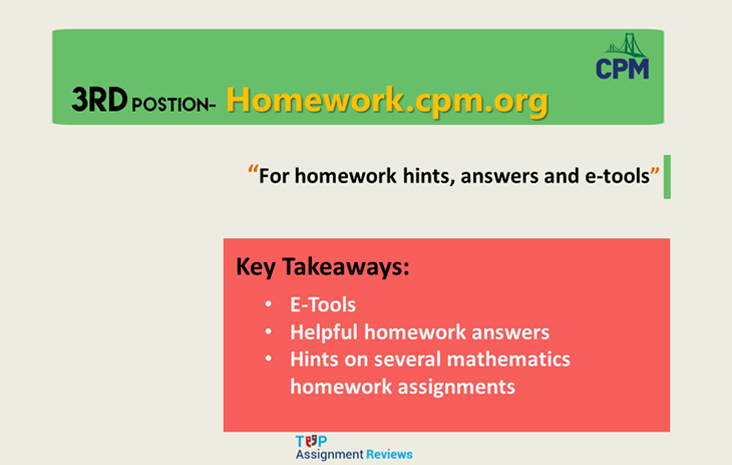 homework cpm org