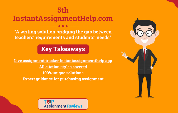 Instant Assignment Help is on no. 5 in best assignment help in australia | Student reviews and feedback on Instantassignmenthelp.com