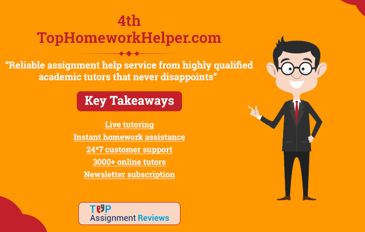 Top Homework Helper is on no. 4 in best assignment help in australia | Student reviews and feedback on TopHomeworkHelper.com