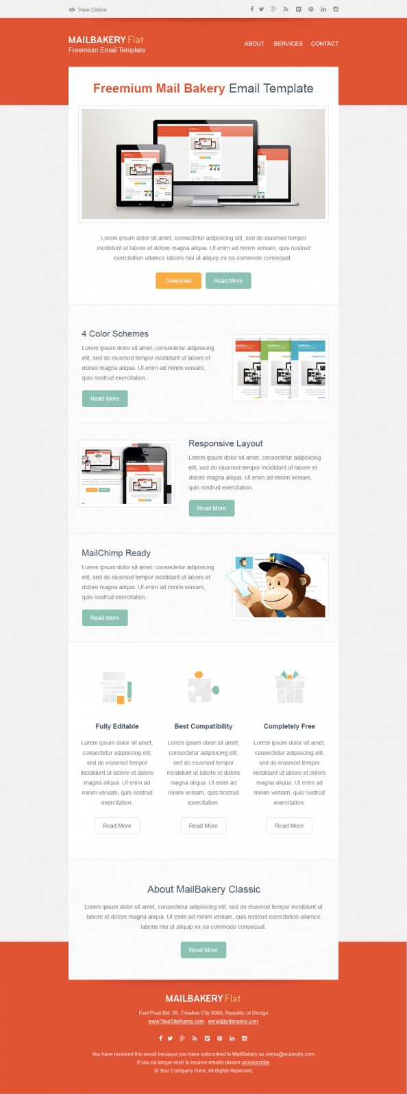 Free html email template for Html code for email template