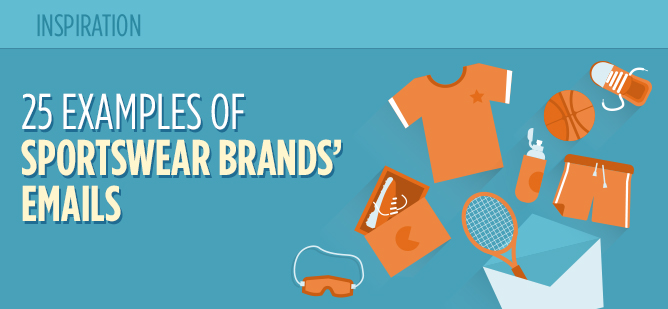 25 Examples of Sportswear Brands' Email Marketing - Header