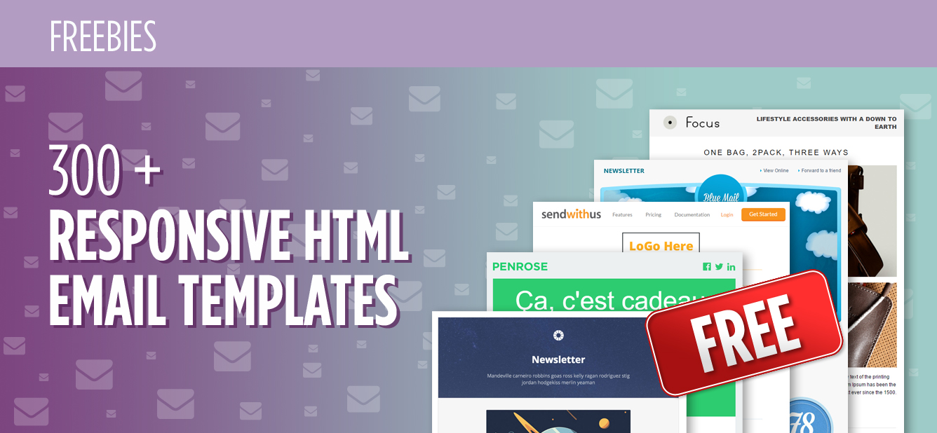 300 Free Responsive Email Templates Of Various Categories