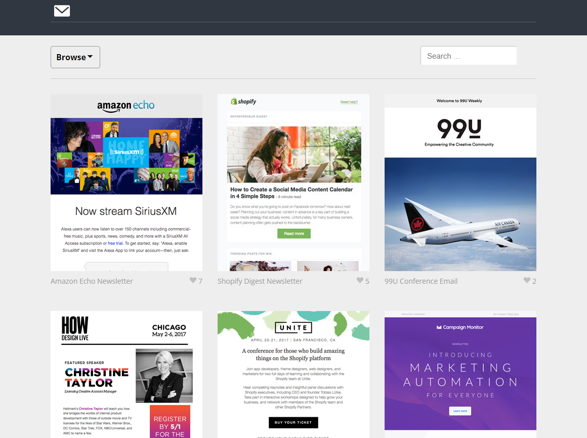 cool html email templates - email design inspiration top 10 sources for top