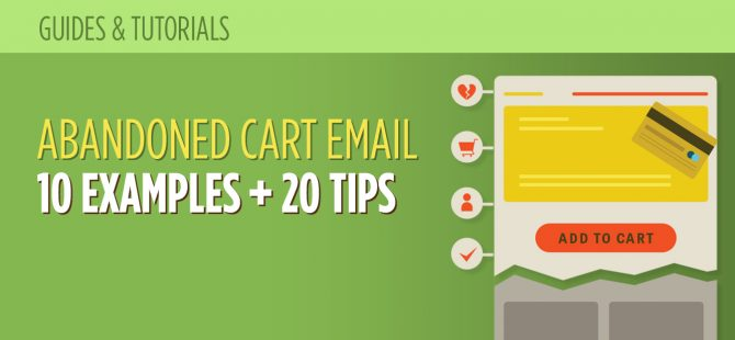 abandoned cart email examples