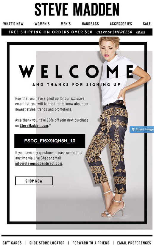 steve-madden-welcome-email