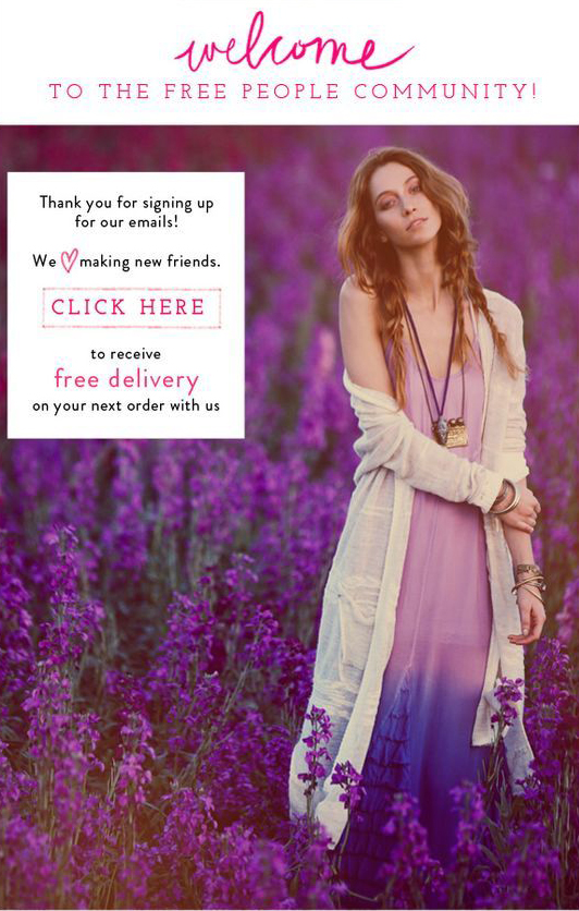 free-people-welcome-email