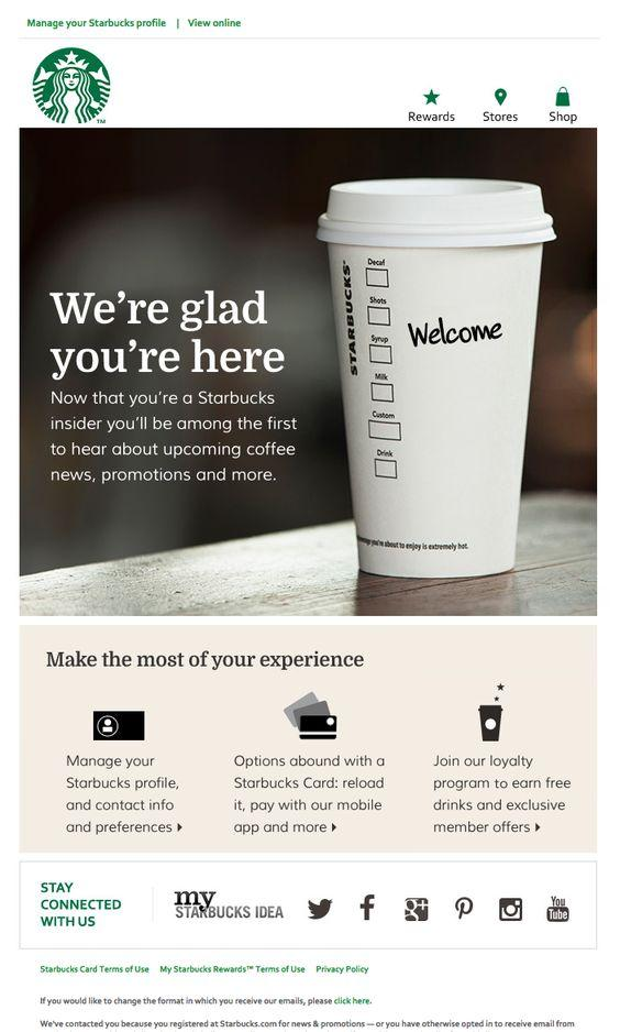 Starbucks email marketing campaign examples