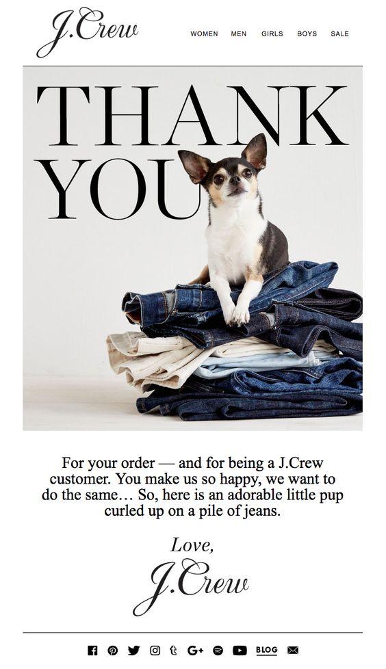J Crew customer appreciation email marketing