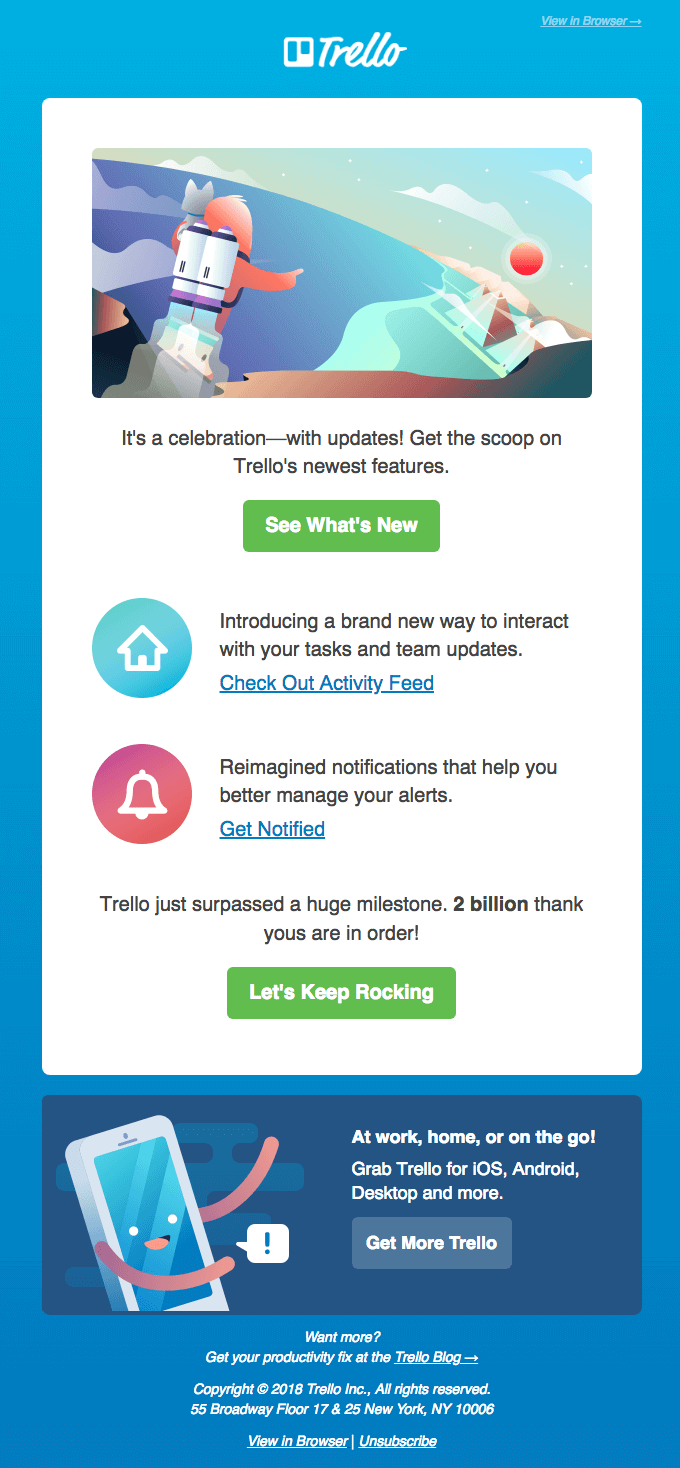trello retention email