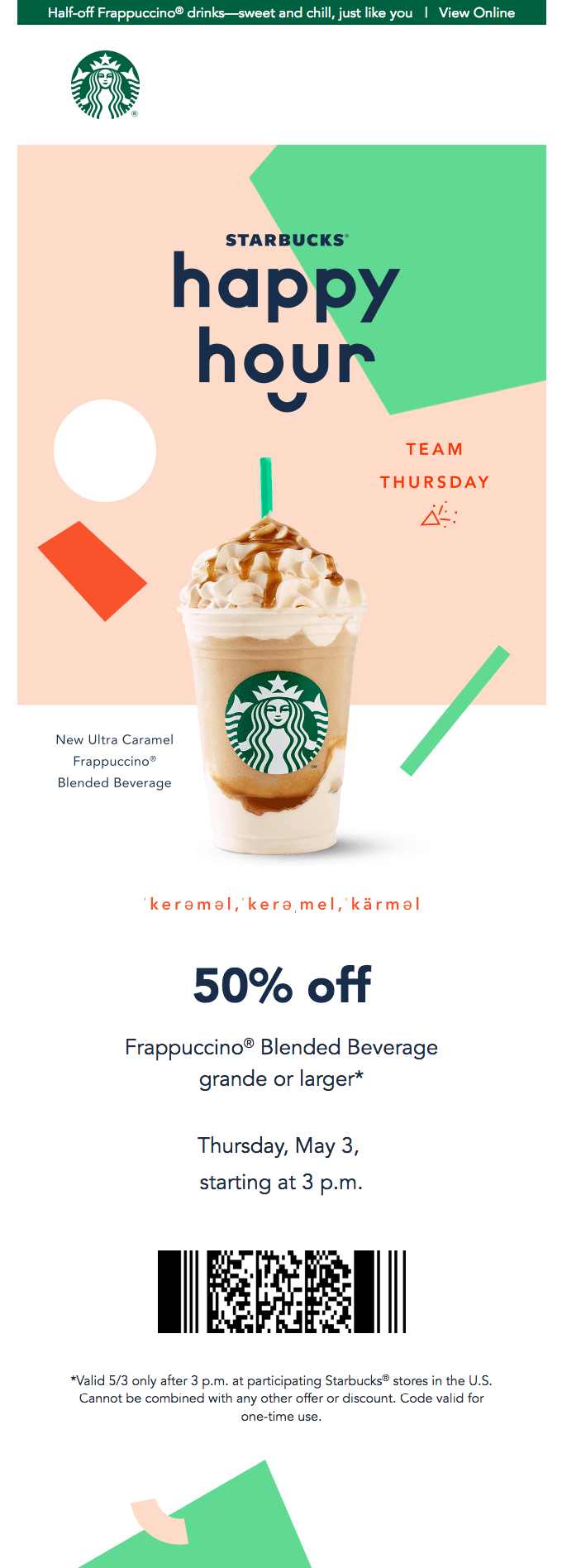 Starbucks retention email