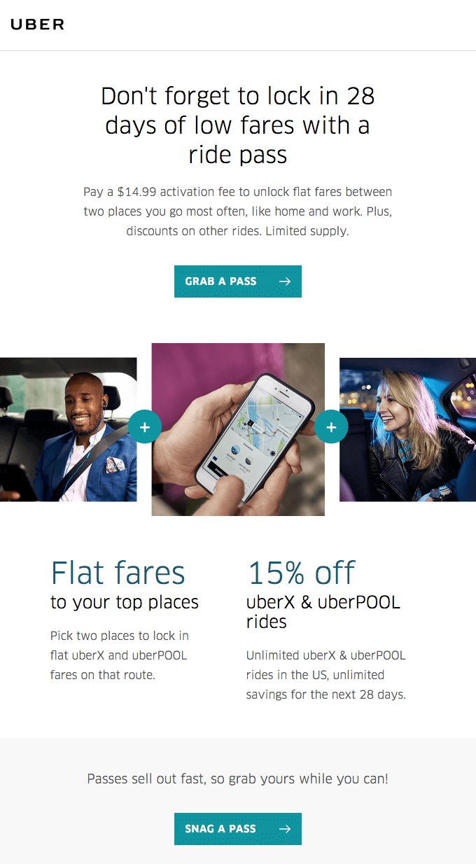 Uber retention email