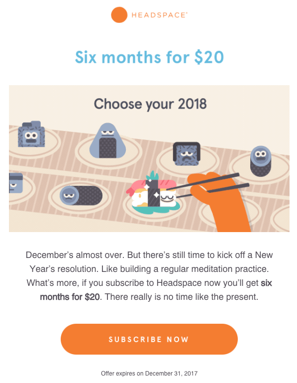 headspace retention email