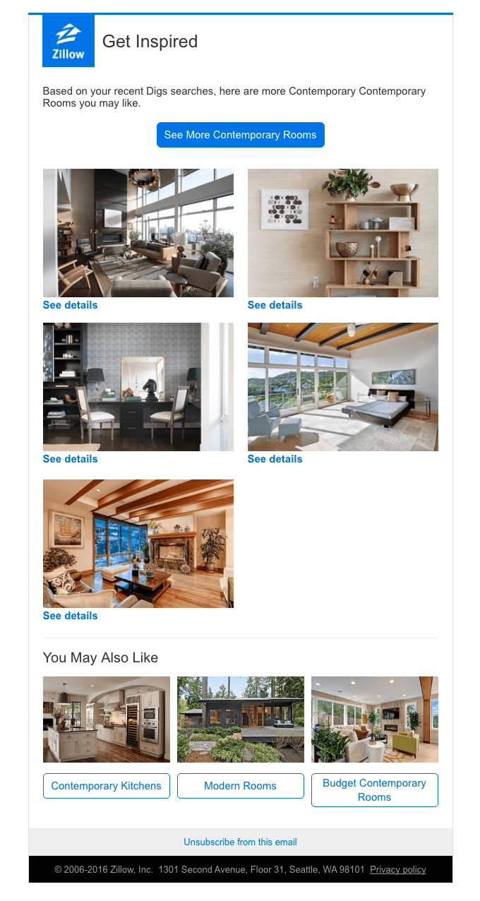 zillow real estate email newsletter examples